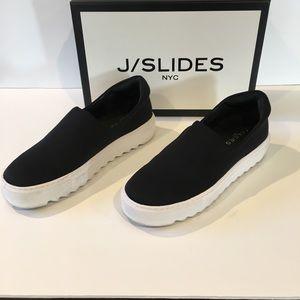 J Slide Sage Platform Slip Ons
